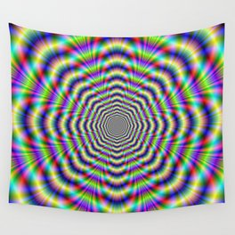 Psychedelic Octagon Pulse Wall Tapestry