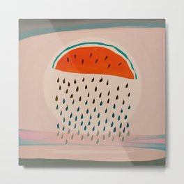 Sun Watermelon Rain Mutants Sequence 2 Metal Print