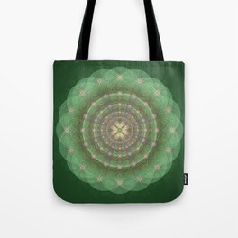 Blessing Mandala green - מנדלה ברכה ירוק Tote Bag