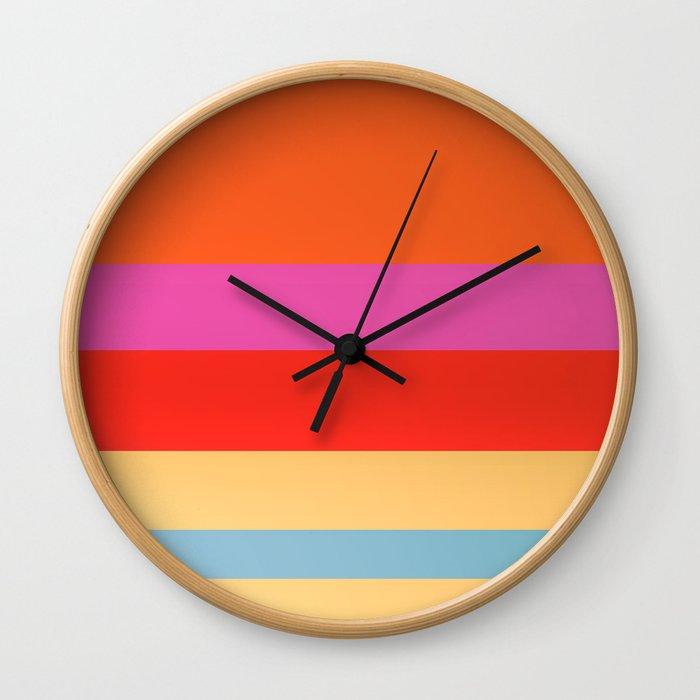 Sunset Stripes Wall Clock