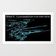 Short Luxusgütercorporate Art Print