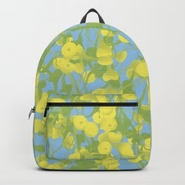 Floral Yellow Backpack