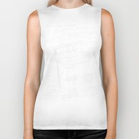 notebook Biker Tanks featuring architectural notes by Bunny Noir