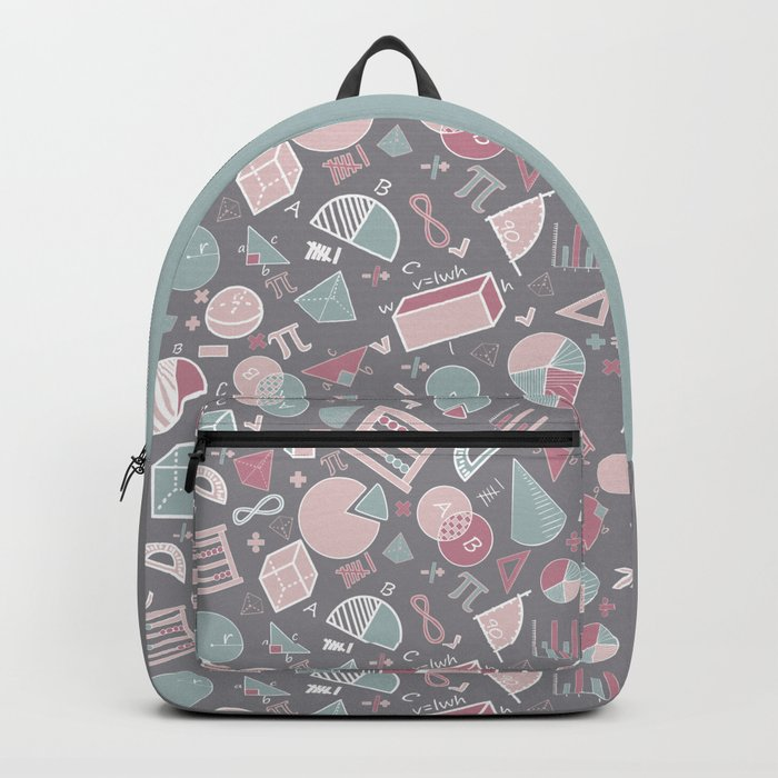 Math on Gray Backpack