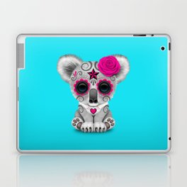 Pink and Blue Day of the Dead Sugar Skull Baby Koala Bear Laptop & iPad Skin