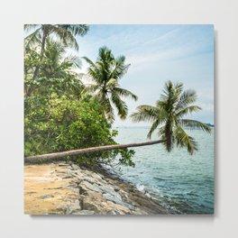 tropical beach on singapore sentosa island Metal Print