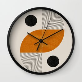 Abstract Geometric Shapes Wall Clock