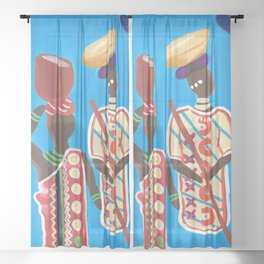 The Ancestors Sheer Curtain