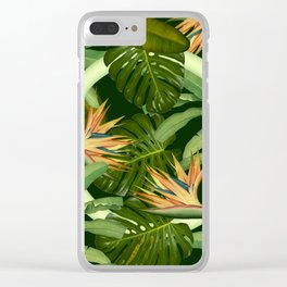 Circle in the Leaves Clear iPhone Case