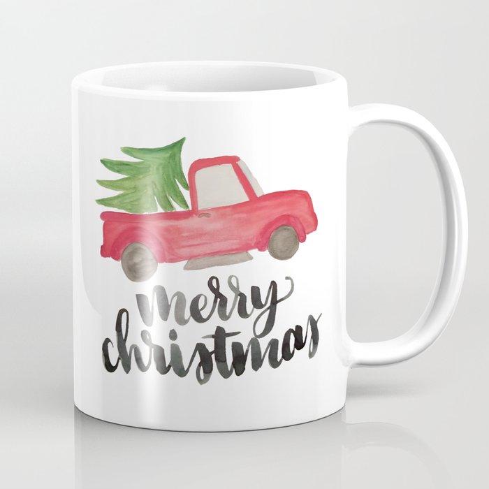Merry Christmas Vintage Truck With Tree Coffee Mug