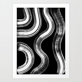 Modern Black + White Art Print