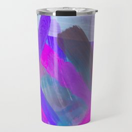 pink brown purple blue painting abstract background Travel Mug