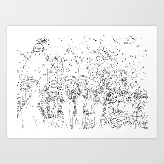 Paesaggio alieno Art Print