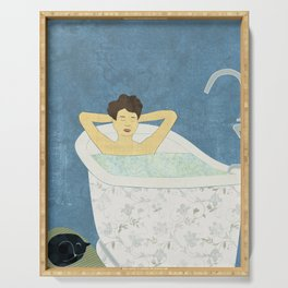 Bathtub Scene Serving Tray