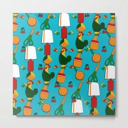 Whimsical Stacks and Knick Knacks - pattern Metal Print