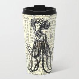 OctoDiver vintage 1895 collage on antique almanac background Travel Mug