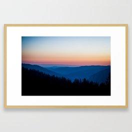 Sunset Tones in Yosemite National Park Framed Art Print