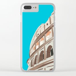 Rome, Italy Colosseum / Roma Il Colosseo, Italia Travel Poster Clear iPhone Case