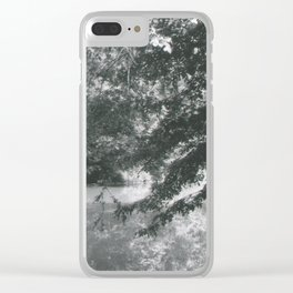 Trees Over Water Clear iPhone Case