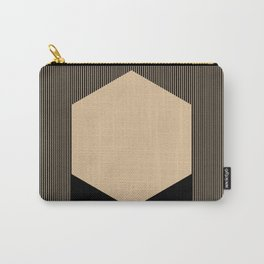 Beige Hex Carry-All Pouch