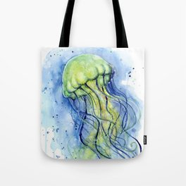 Jellyfish Watercolor Beautiful Sea Creatures Tote Bag