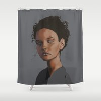 dylan Shower Curtains featuring Dylan by Notwhatnot