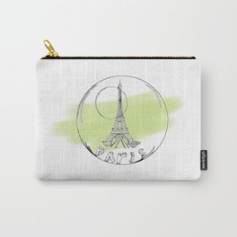 paris in a glass ball . green pastel colors Carry-All Pouch