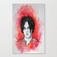 jack white Canvas Prints featuring Jack White by Sosha Krosley