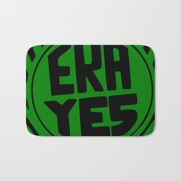 ERA YES - Green and Black Bath Mat