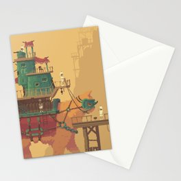 Pixel Art - Monster Cat Machine by Romain Courtois Stationery Cards