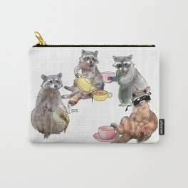 Racoon Tea Party Carry-All Pouch