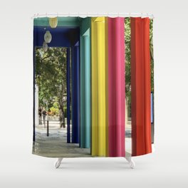 Columns Full of Color and Life Shower Curtain