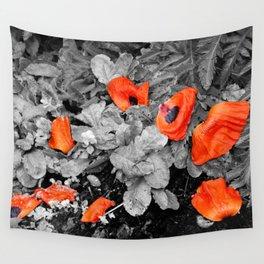 Fallen Poppies Wall Tapestry