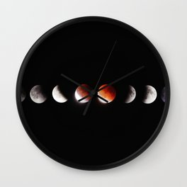 The Phases of the Moon (Color) Wall Clock