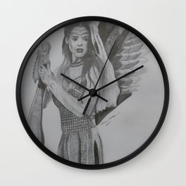 Angel Warrior Wall Clock