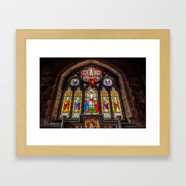 Ancient Stained Glass Framed Art Print