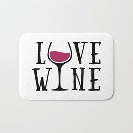 Love Wine Quote Bath Mat