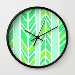 Stripes: Greenies Wall Clock