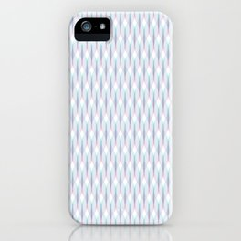 Purple and Aqua Tangled Lines Pattern iPhone Case