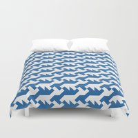 nintendo Duvet Covers featuring Nintendo .blue by guapa.
