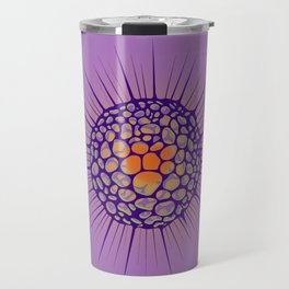 funky sea urchin with heart Travel Mug
