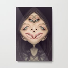 four eyes girl Metal Print