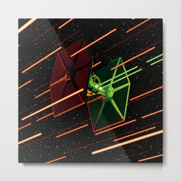 Tie Fighting Metal Print