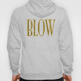 Blow BLACK & GOLD / Horn instruments forming type and background Hoody