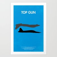 top gun Art Prints featuring Top Gun  by NotThatMikeMyers