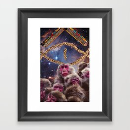 Monkey C / Monkey Doe Framed Art Print