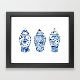 GINGER JAR TRIO Framed Art Print