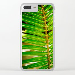 Palm summer Clear iPhone Case