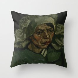 Head of a Woman Throw Pillow