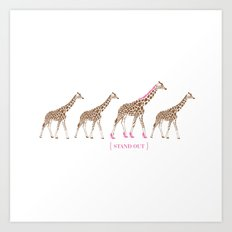 Stand Out - Giraffes Art Print
